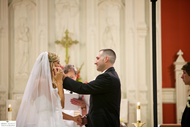 Wedding photography at Trinity Episcopal Church by Armen Elliott Photography, Easton, PA