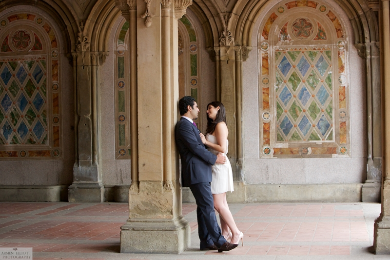 Lehigh Valley Wedding Photographer Armen Elliott  in Central Park engagement session