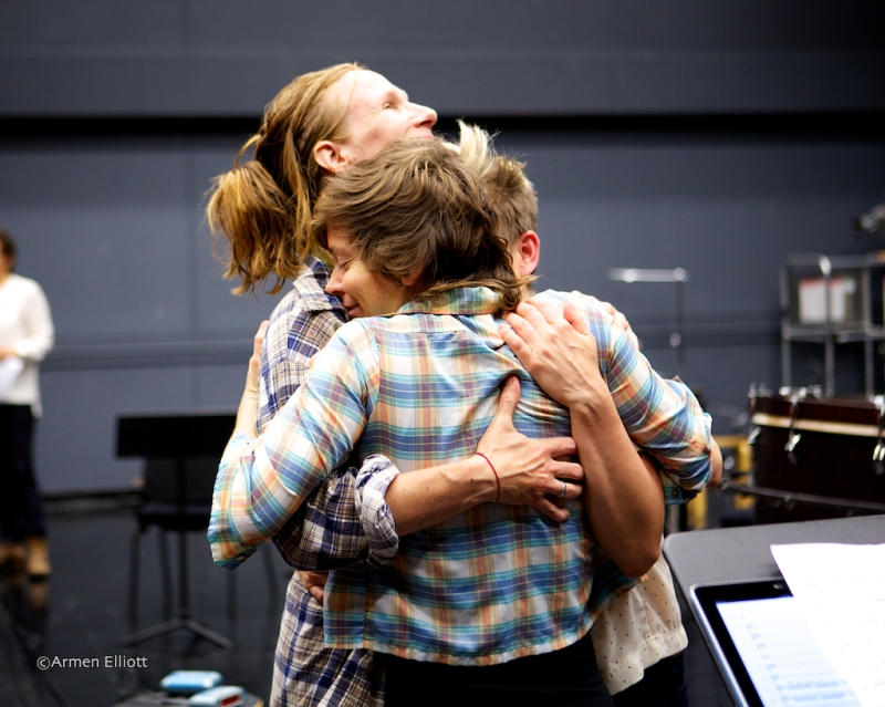 Claire Chase and ICE, in rehearsal, Lincoln Center Mostly Mozart Festival 2013