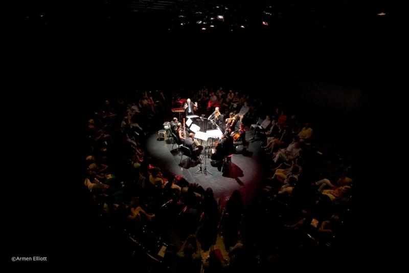 Steven Schick conducting George Lewis' Born Obbligato, International Contemporary Ensemble Lincoln Center Mostly Mozart 2013