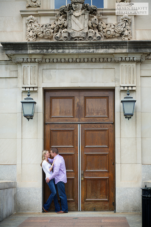 Lafayette College engagement photo session