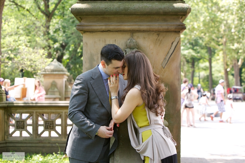 Central Park engagement session