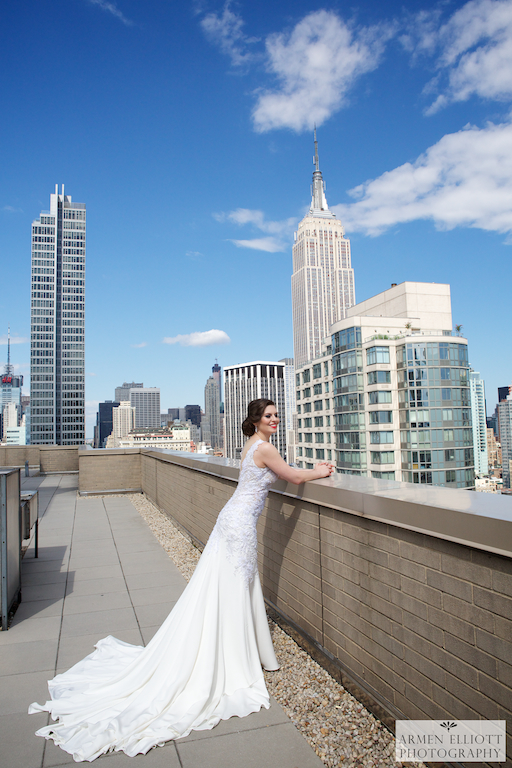 Armenian-wedding-photo-bride-rooftop-skyscrapers