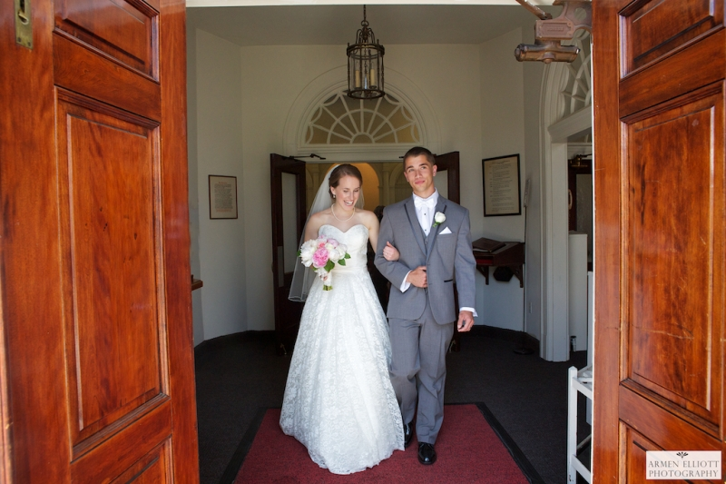 Wedding photo at Emmaus Moravian Church by Armen Elliott Photography