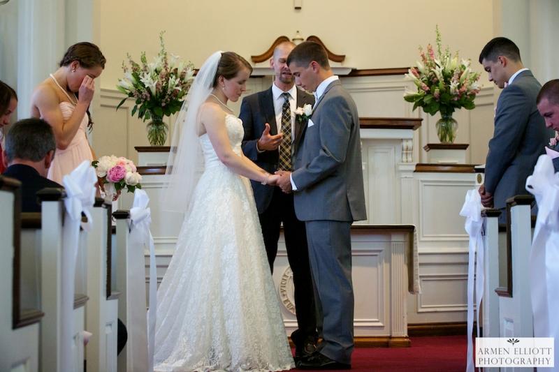 Emmaus Moravian Church wedding photo by Armen Elliott Photography