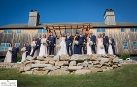 Glasbern Inn Wedding bridal party