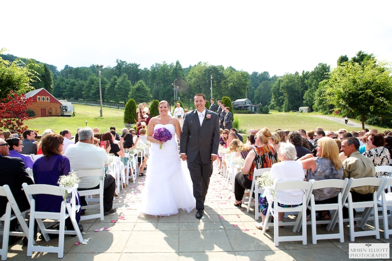 Wedding ceremony photo at Bear Creek Resort by Armen Elliott