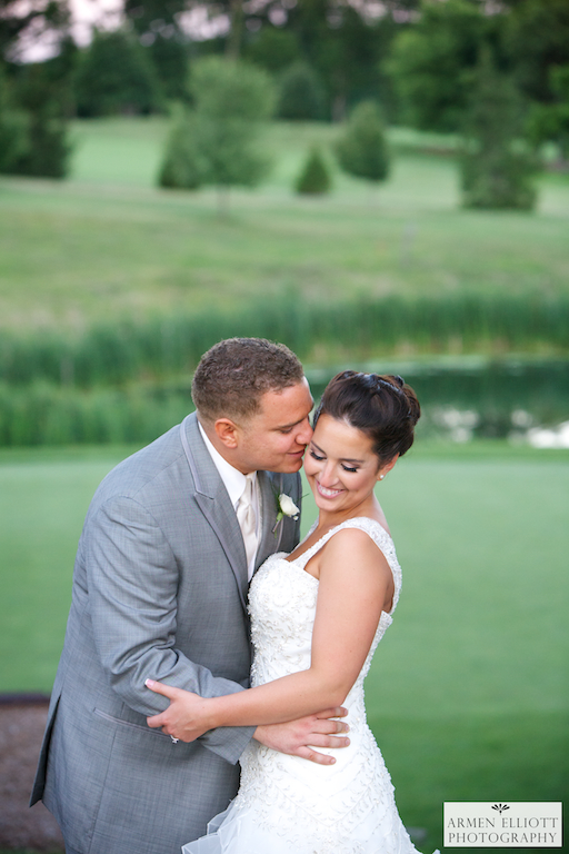 wedding photo of couple on golf course at La Massaria Bella Vista by Armen Elliott Photography