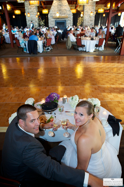 Wedding reception photo at Bear Creek Resort by Armen Elliott