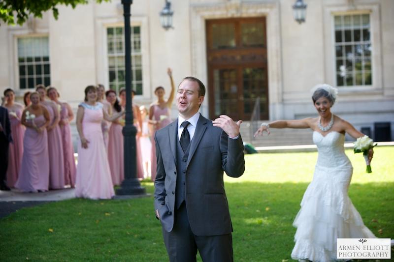 Lehigh Valley wedding first look by Armen Elliott
