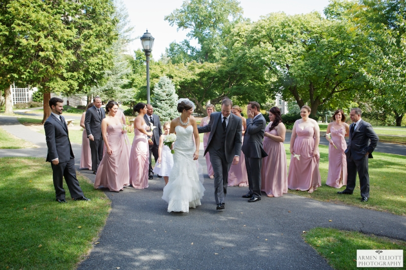 Lehigh Valley wedding photographer Armen Elliott with Bridal party