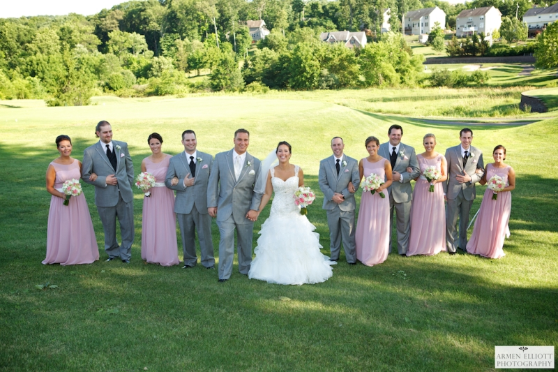 Wedding party at La Massaria Bella Vista by Armen Elliott Photography