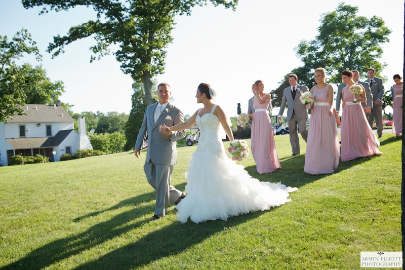 Bridal party at La Masseria Bella Vista in Gilbertsville pa by Armen Elliott Photography