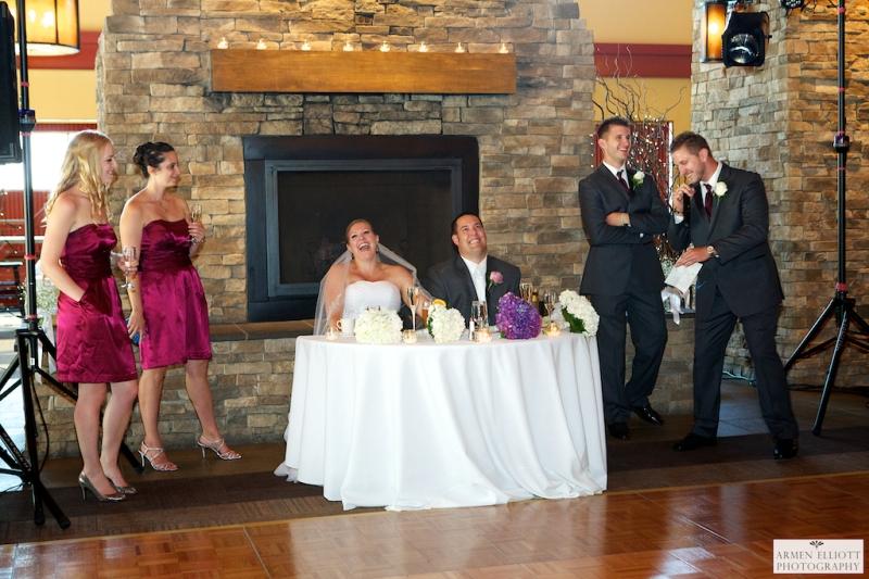 Bear Creek Wedding Photo of Toasts by Armen elliott