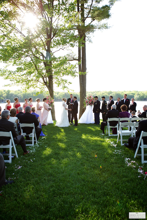 Woodloch wedding by Armen Elliott on the lake in Hawley PA