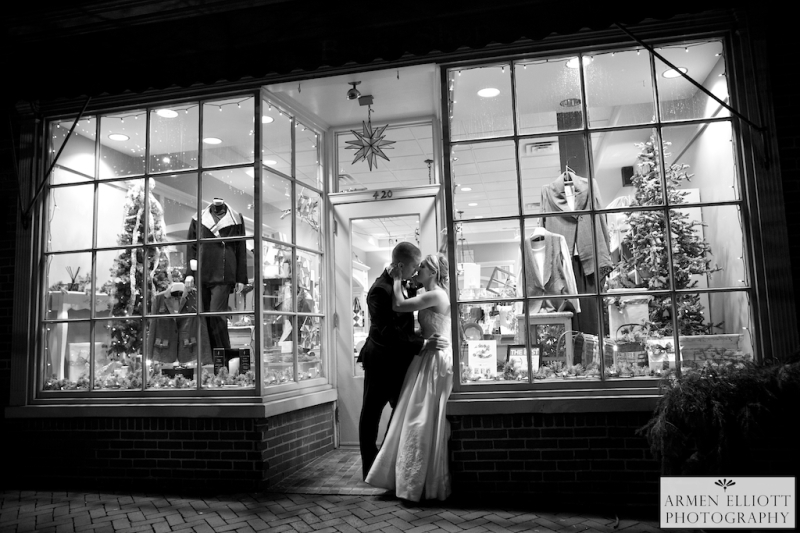 Hotel Bethlehem wedding couple on Main Street photos by Armen Elliott