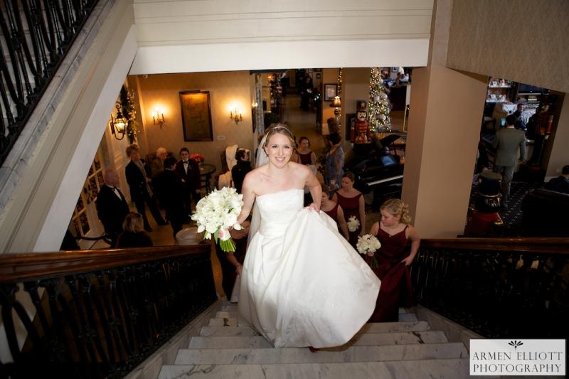 Hotel Bethlehem wedding photo of bride by Armen Elliott