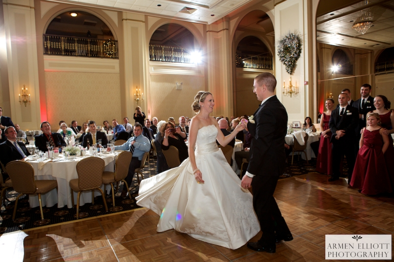 Hotel Bethlehem wedding photo of couple's first dance by Armen Elliott Photography