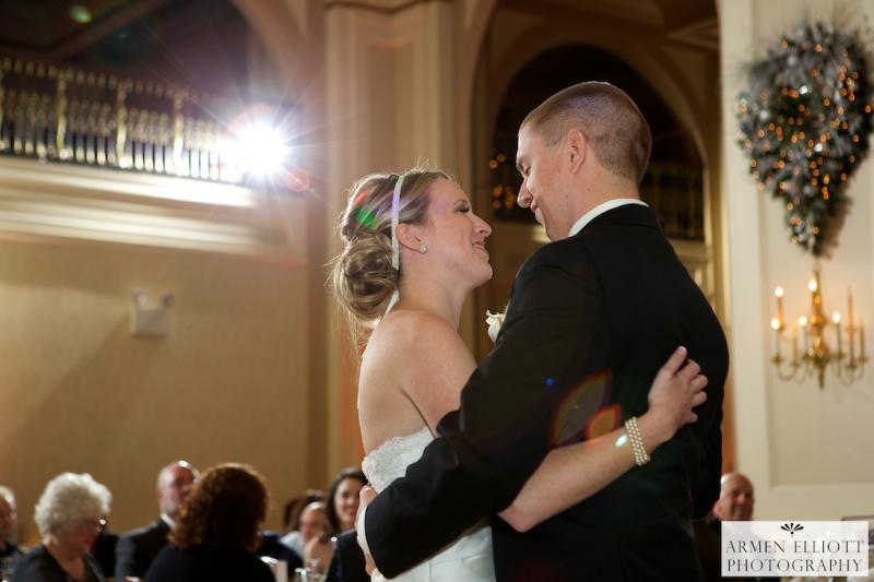 Hotel Bethlehem wedding photo of couple's first dance by Armen Elliott