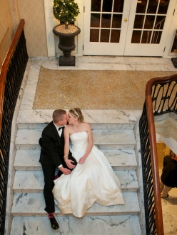 Hotel Bethlehem wedding couple photo by Armen Elliott
