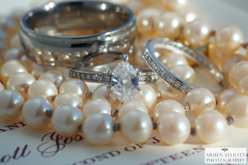 Lehigh Valley wedding photo of wedding rings by Armen Elliott