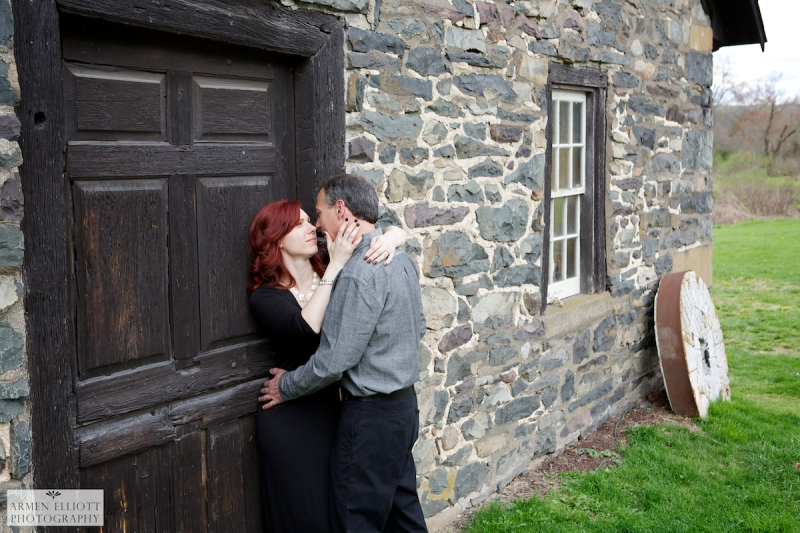 Engagement photo session at the Old Mill in the Pocono Mountains, PA