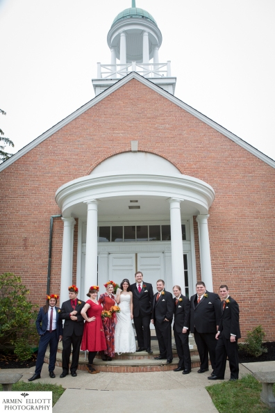 Palmer Moravian Church wedding ©Armen Elliott Photography